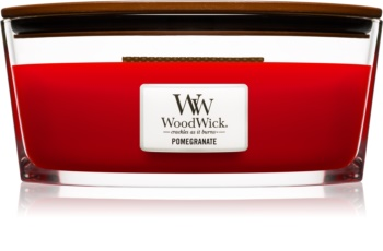 Woodwick Pomegranate illatos gyertya  fa kanóccal (hearthwick)