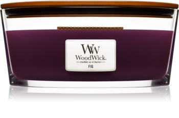 Woodwick Fig scented candle wooden wick (hearthwick)