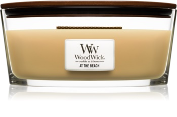 Woodwick At The Beach ароматическая свеча с деревянным фителем (hearthwick)