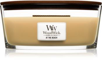 Woodwick At The Beach lumânare parfumată  cu fitil din lemn (hearthwick)