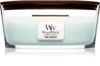 Woodwick Pure Comfort vonná svíčka s dřevěným knotem (hearthwick)