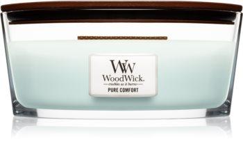 Woodwick Pure Comfort vonná sviečka s dreveným knotom (hearthwick)