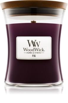 Woodwick Fig świeczka zapachowa  z drewnianym knotem