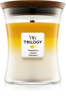 Woodwick Trilogy Fruits of Summer scented candle Medium