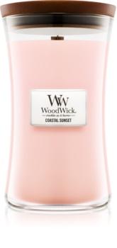 Woodwick Coastal Sunset bougie parfumée avec mèche en bois