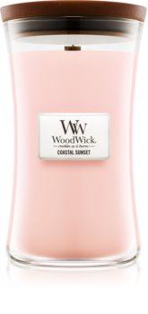 Woodwick Coastal Sunset kvapioji žvakė medinė dagtis