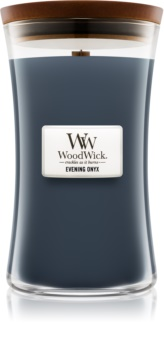 Woodwick Evening Onyx aроматична свічка з дерев'яним гнітом