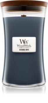 Woodwick Evening Onyx Duftkerze mit Holzdocht