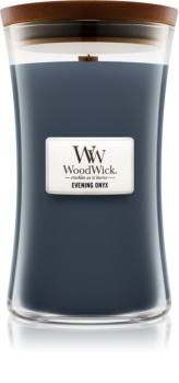 Woodwick Evening Onyx ароматна свещ  с дървен фитил