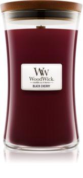 Woodwick Black Cherry ароматическая свеча с деревянным фителем