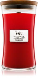 Woodwick Pomegranate mirisna svijeća s drvenim fitiljem