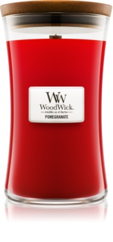 Woodwick Pomegranate scented candle Wooden Wick