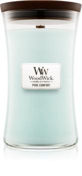 Woodwick Pure Comfort vonná svíčka s dřevěným knotem