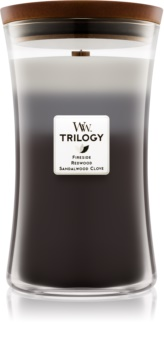 Woodwick Trilogy Warm Woods scented candle Wooden Wick