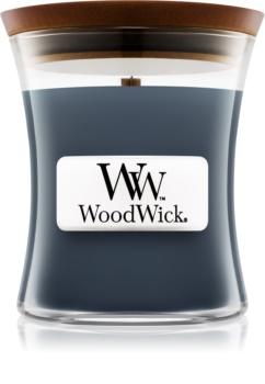 Woodwick Evening Onyx illatos gyertya  fa kanóccal