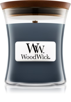 Woodwick Evening Onyx lumânare parfumată  cu fitil din lemn