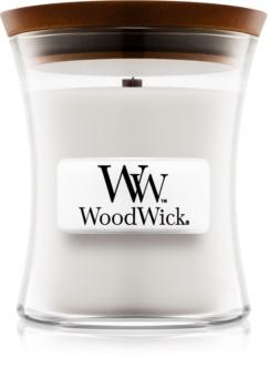 Woodwick Warm Wool ароматна свещ  с дървен фитил