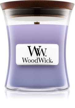 Woodwick Lilac mirisna svijeća s drvenim fitiljem