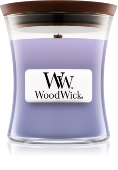 Woodwick Lilac scented candle Wooden Wick