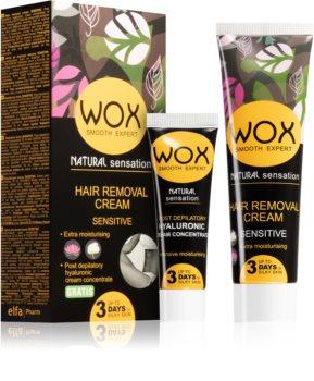 WOX Natural Sensation крем за депилация  за чувствителна кожа