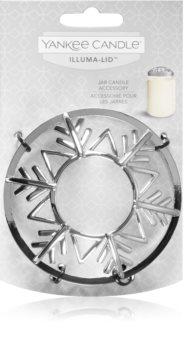 Yankee Candle Twinkling Snowflake ozdobný prstenec na vonnou svíčku Classic velký a střední
