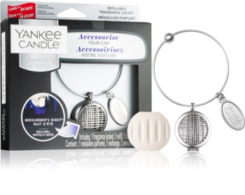 Yankee Candle Midsummer´s Night car air freshener + One Refill I. (Geometric)