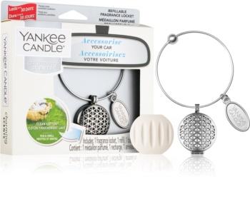 Yankee Candle Clean Cotton vôňa do auta prívesok + náhradná náplň (Geometric)