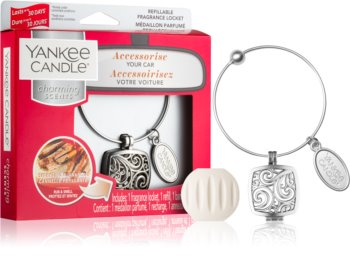 Yankee Candle Sparkling Cinnamon car air freshener pendant + one refill (Square)