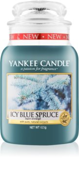 Yankee Candle Icy Blue Spruce scented candle Classic Large
