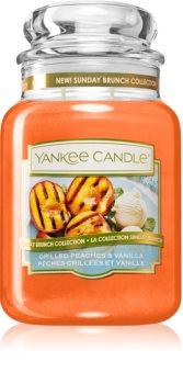 Yankee Candle Grilled Peaches & Vanilla vonná svíčka Classic velká