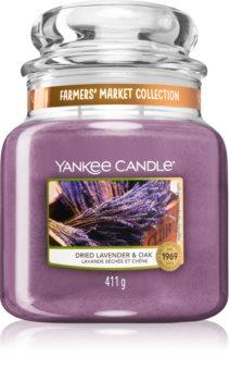 Yankee Candle Dried Lavender & Oak vonná svíčka Classic střední
