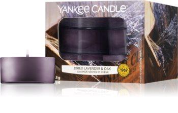 Yankee Candle Dried Lavender & Oak čajová svíčka