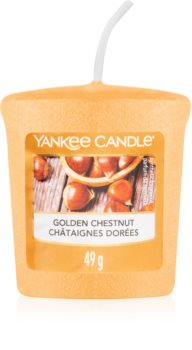 Yankee Candle Golden Chestnut mala mirisna svijeća bez staklene posude