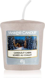 Yankee Candle Candlelit Cabin mala mirisna svijeća bez staklene posude