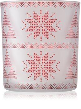 Yankee Candle Red Nordic stakleni svijećnjak za male mirisne svijeće