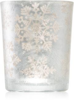 Yankee Candle Twinkling Snowflake szklany świecznik na sampler
