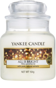Yankee Candle All is Bright vela perfumada Classic pequeno