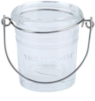 Yankee Candle Glass Bucket szklany świecznik na sampler I. Clear glass