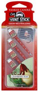 Yankee Candle Cranberry Pear ambientador de coche para ventilación 4 ud