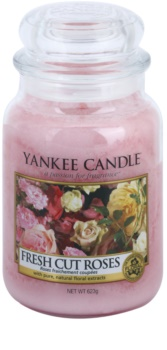 Yankee Candle Fresh Cut Roses scented candle Classic Large