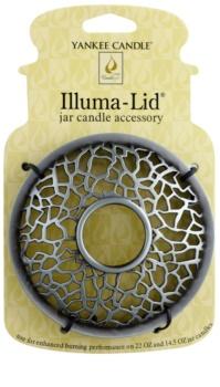 Yankee Candle Matrix Brushed ukrasni prsten za mirisnu lampu za mirisnu svijeću Classic veliku i srednju (Silver)