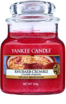 Yankee Candle Rhubarb Crumble vela perfumado 105 g Classic pequeno