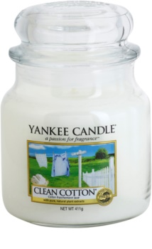 Yankee Candle Clean Cotton vela perfumada  Classic mediana
