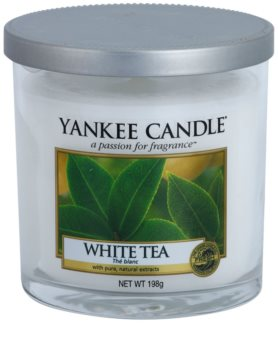 Yankee Candle White Tea vela perfumado 198 g Décor pequena
