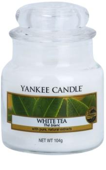 Yankee Candle White Tea vela perfumada 104 g Classic pequeno