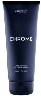 Yardley Chrome gel de duche para homens 200 ml