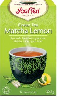 """Yogi Tea Matcha Lemon """"Matcha Citrón"""" bio zelený čaj ze směsi čajů tencha, sencha a matcha v kombinaci s limetkou a citrónovou trávou"""