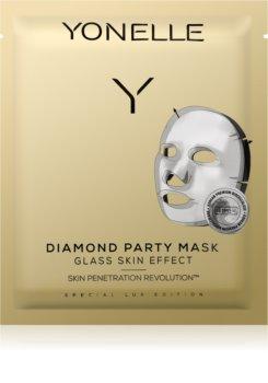 Yonelle Diamond Party Mask plátenná maska s hydratačným a revitalizačným účinkom