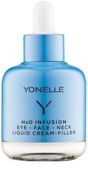 Yonelle H2O Infusíon crema líquida de efecto antiarrugas rápido en los contornos de los ojos, el rostro y el cuello