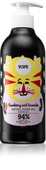 Yope Cranberry & Lavender gel de duș intens hidratant pentru copii